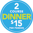 2 people dine for $28
